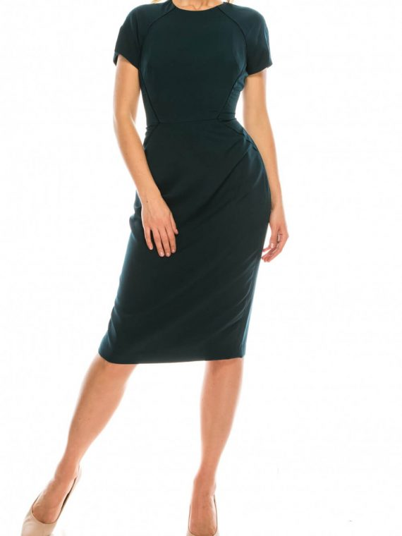 Maggy London Pine Sheath Dress with Lace Trims_pine