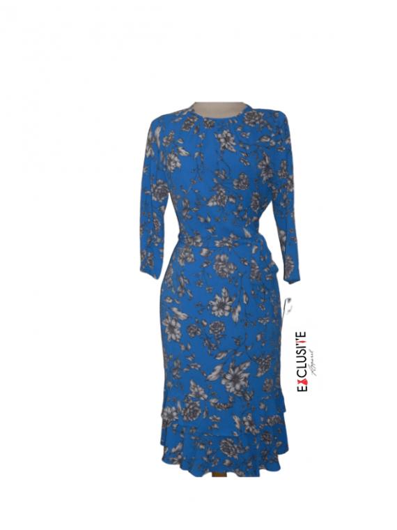 blue flowered dress