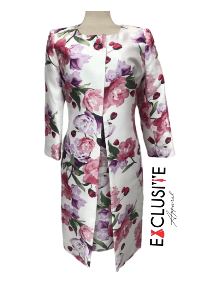 Flowered Dress Coat Suit logo