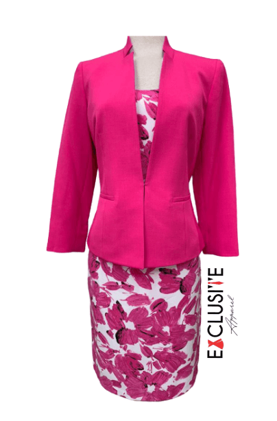 Hot Pink Flowered Dress Coat logo