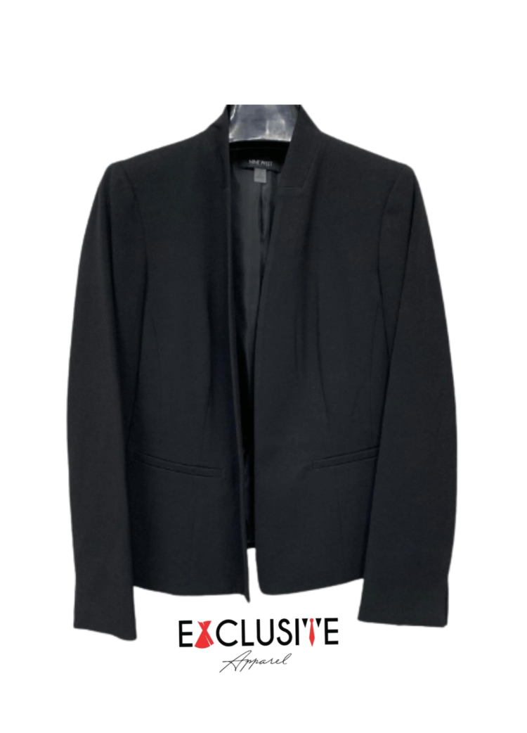 Kasper Ruched Long-Sleeve Blazer