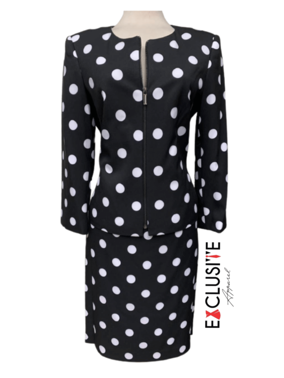 Polka Dot Skirt Suit