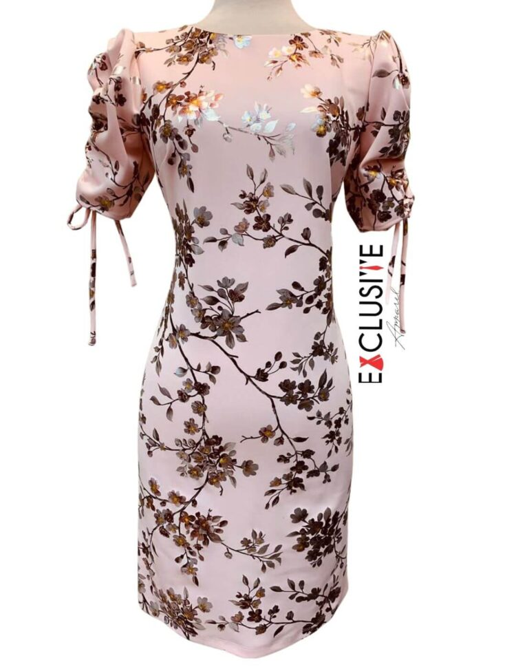 Shelby & Palmer Floral Sheath Dress Blush