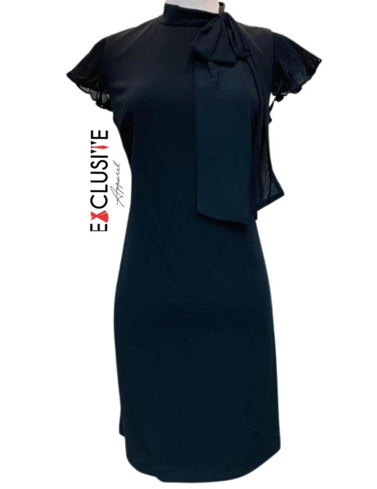 Shelby & Palmer Black Bow Necktie Dress